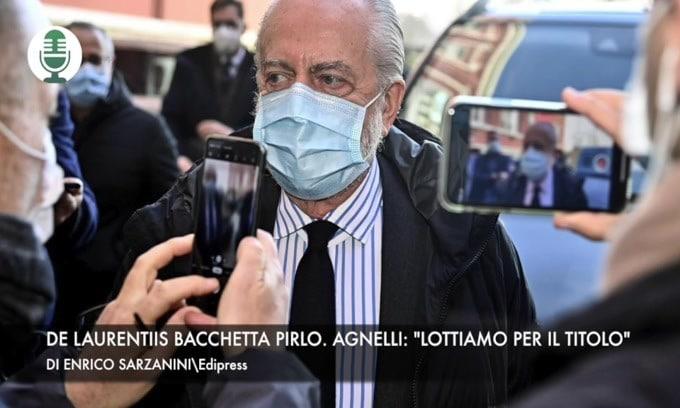 """224228194 eee7d691 b398 4900 a17e a90371938ab6 - De Laurentiis, stoccata a Pirlo. Agnelli: """"Lottiamo per lo scudetto"""" VIDEO"""