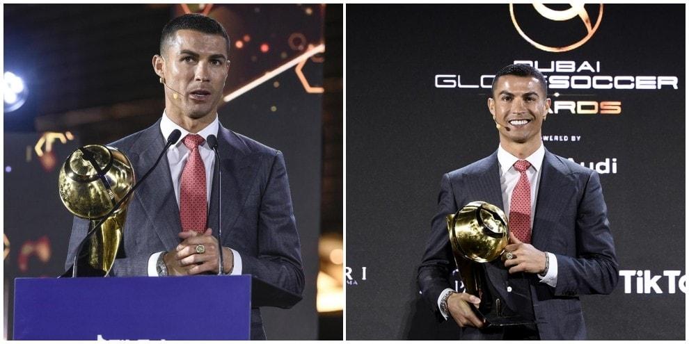 La gioia di Ronaldo eletto giocatore del secolo a Dubai
