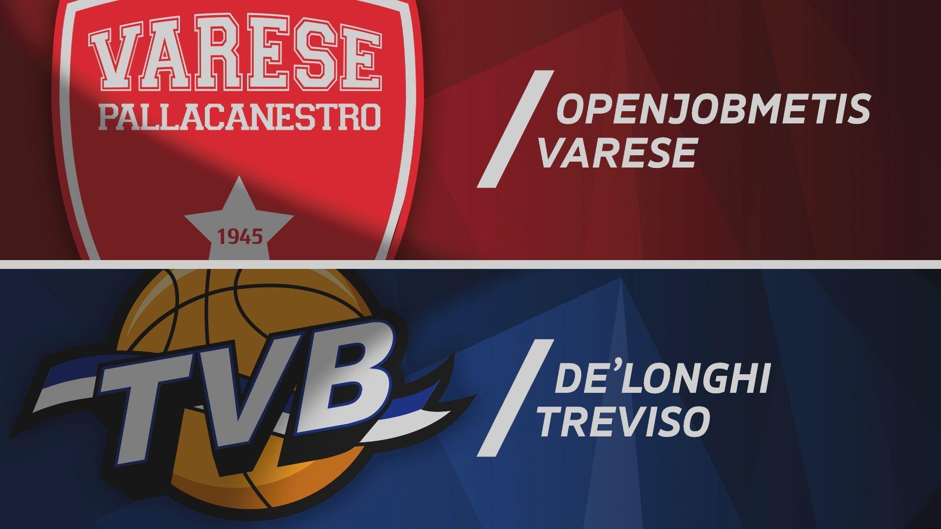 Openjobmetis Varese - De' Longhi Treviso Basket 79-80