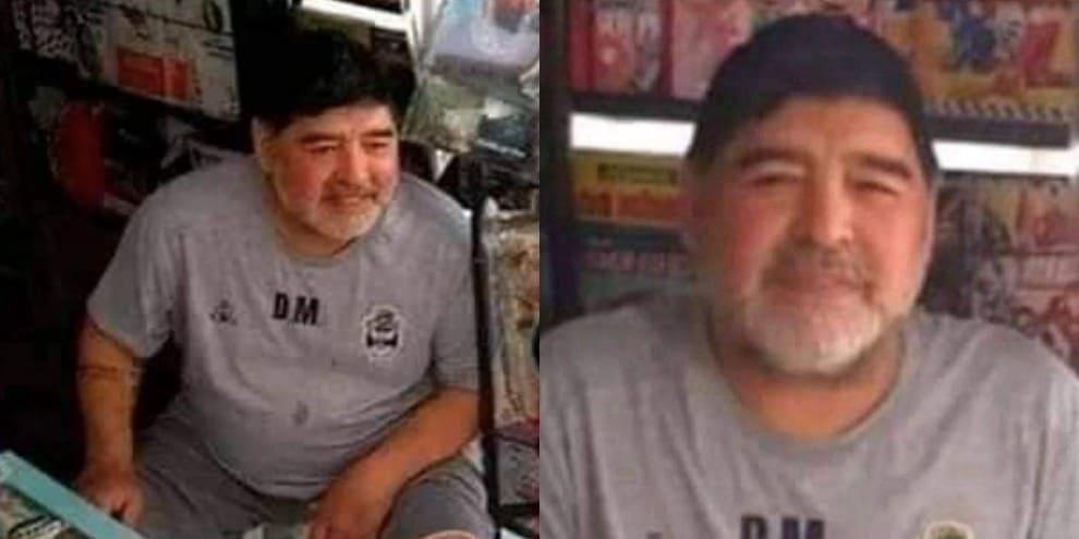 È Maradona o un sosia? Giallo sui social