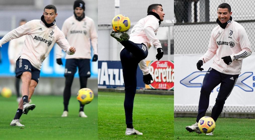 Cristiano Ronaldo, che show nel primo allenamento del 2021