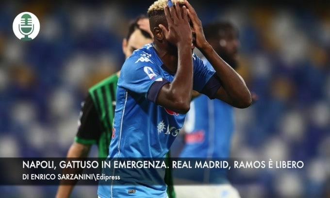 Napoli, Gattuso in emergenza. Madrid, Ramos è libero