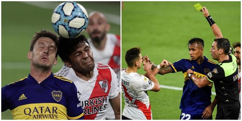 Spettacolo, gol e due espulsi tra Boca Juniors e River Plate