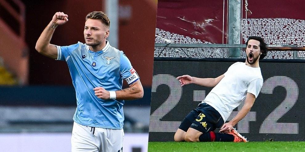 Lazio, Immobile gol non basta con il Genoa: Destro fa 1-1