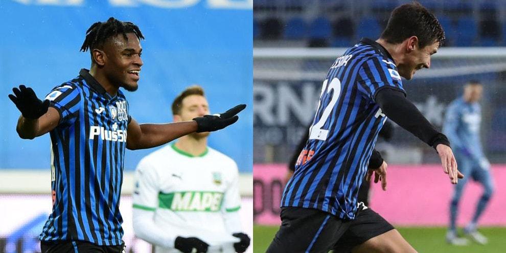 Zapata lancia l'Atalanta, Sassuolo steso 5-1!