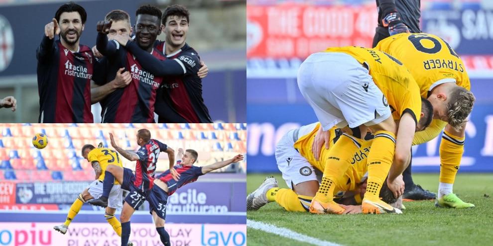 L'Udinese frena il Bologna di Mihajlovic allo scadere