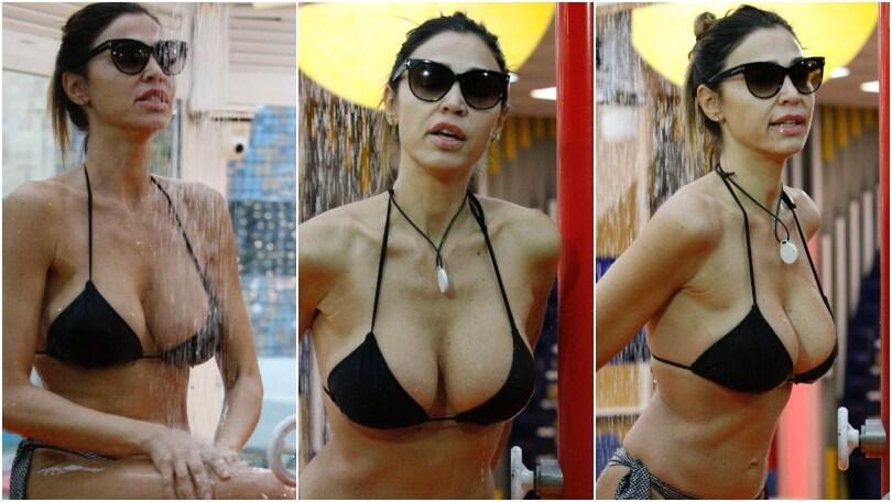 Cecilia Capriotti, doccia in bikini al Grande Fratello Vip