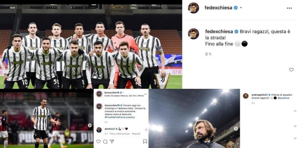 Juve, Chiesa e McKennie firmano il 3-1 sul Milan: anche Pirlo si unisce alla festa sui social