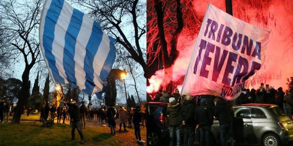 Lazio, in Piazza della Libertà i tifosi celebrano i 121 anni di storia
