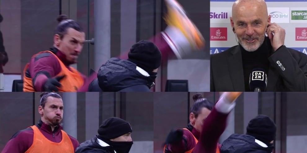 Ibrahimovic, il riscaldamento speciale fa sorridere anche Pioli!