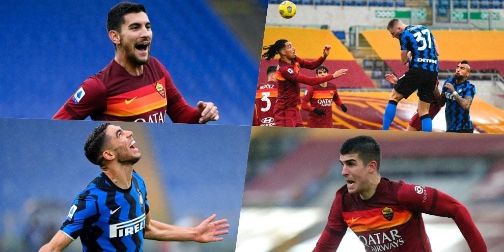 Roma-Inter, 2-2 show all'Olimpico: super gol, sorpassi e rimonte