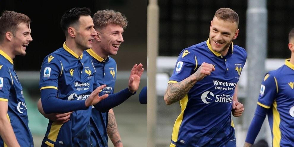 Il Verona vola: Kalinic-gol dopo cinque mesi, solita finezza di Dimarco