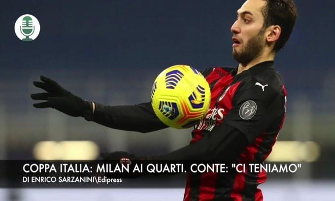 """Coppa Italia: Milan ai quarti. Conte: """"Ci teniamo"""""""