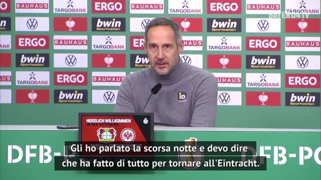 """Hütter su Jovic: """"Ha fatto di tutto per tornare all'Eintracht"""""""