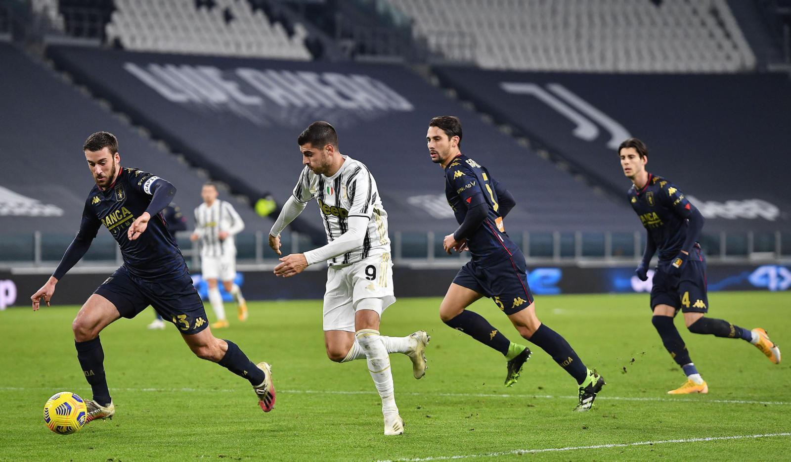 Juve-Genoa 2-2 (3-2 d.t.s.), il tabellino