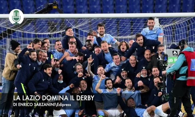 Serie A: la Lazio domina il derby