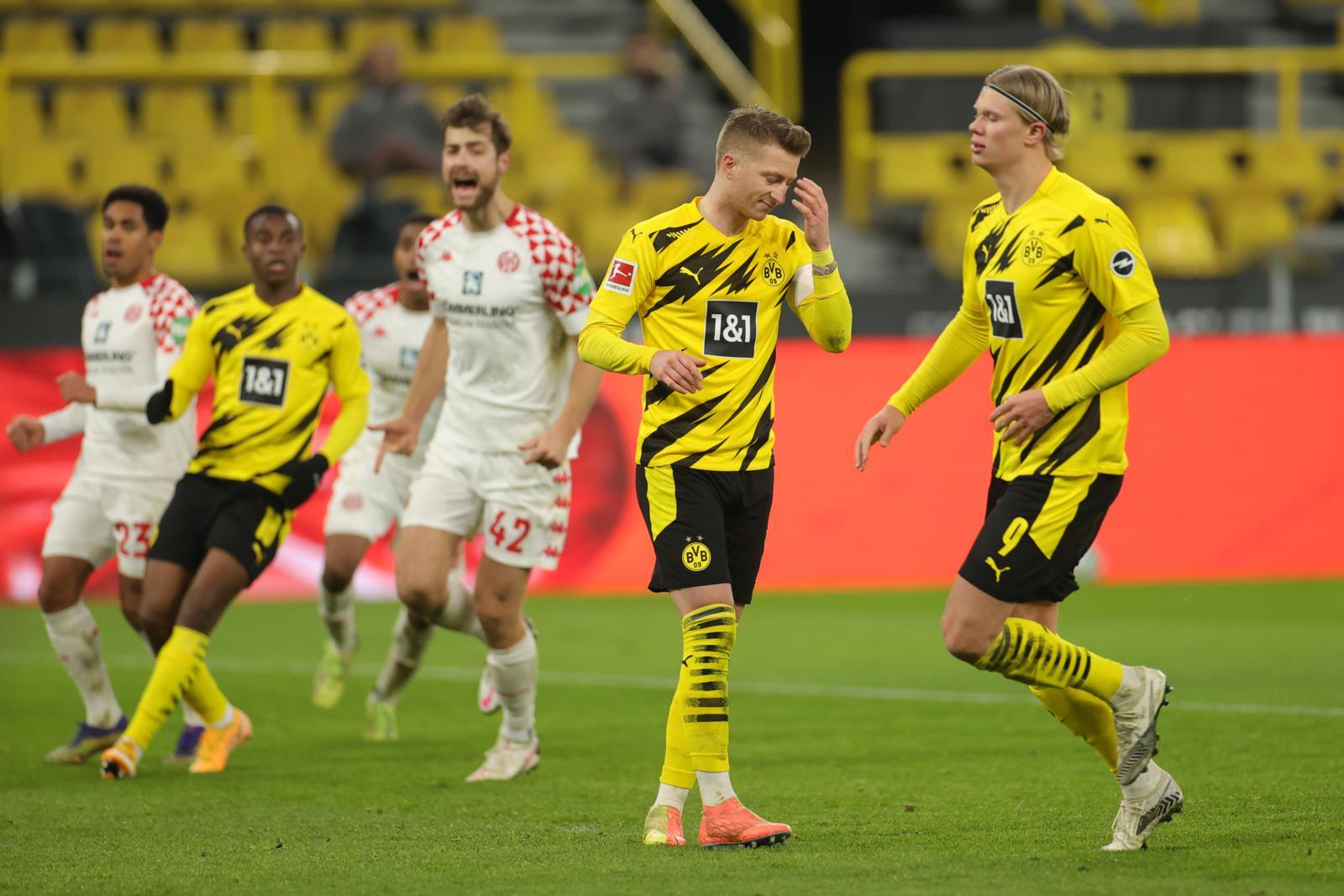 Haaland non segna e il Dortmund non vince. Lipsia, assist al Bayern