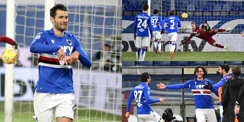 Magia di Candreva e gol all'esordio di Torregrossa: la Samp batte l'Udinese