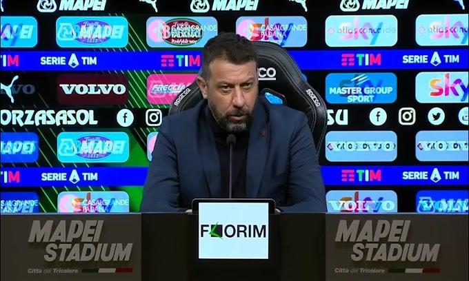 """D'Aversa: """"Posso solo fare i complimenti alla mia squadra"""""""