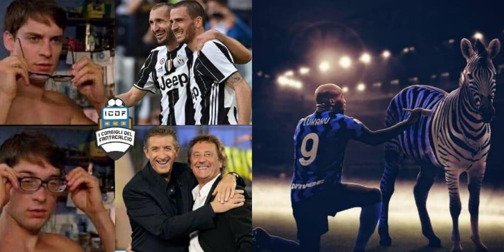Inter-Juve, sui social sfidaall'ultima risata