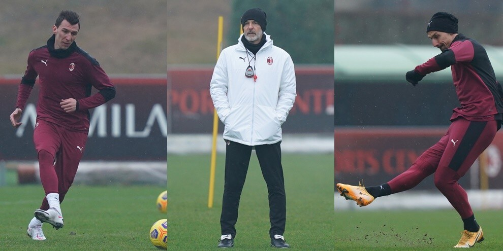 Ibrahimovic-Mandzukic, prove d'intesa: Pioli studia la nuova coppia del Milan