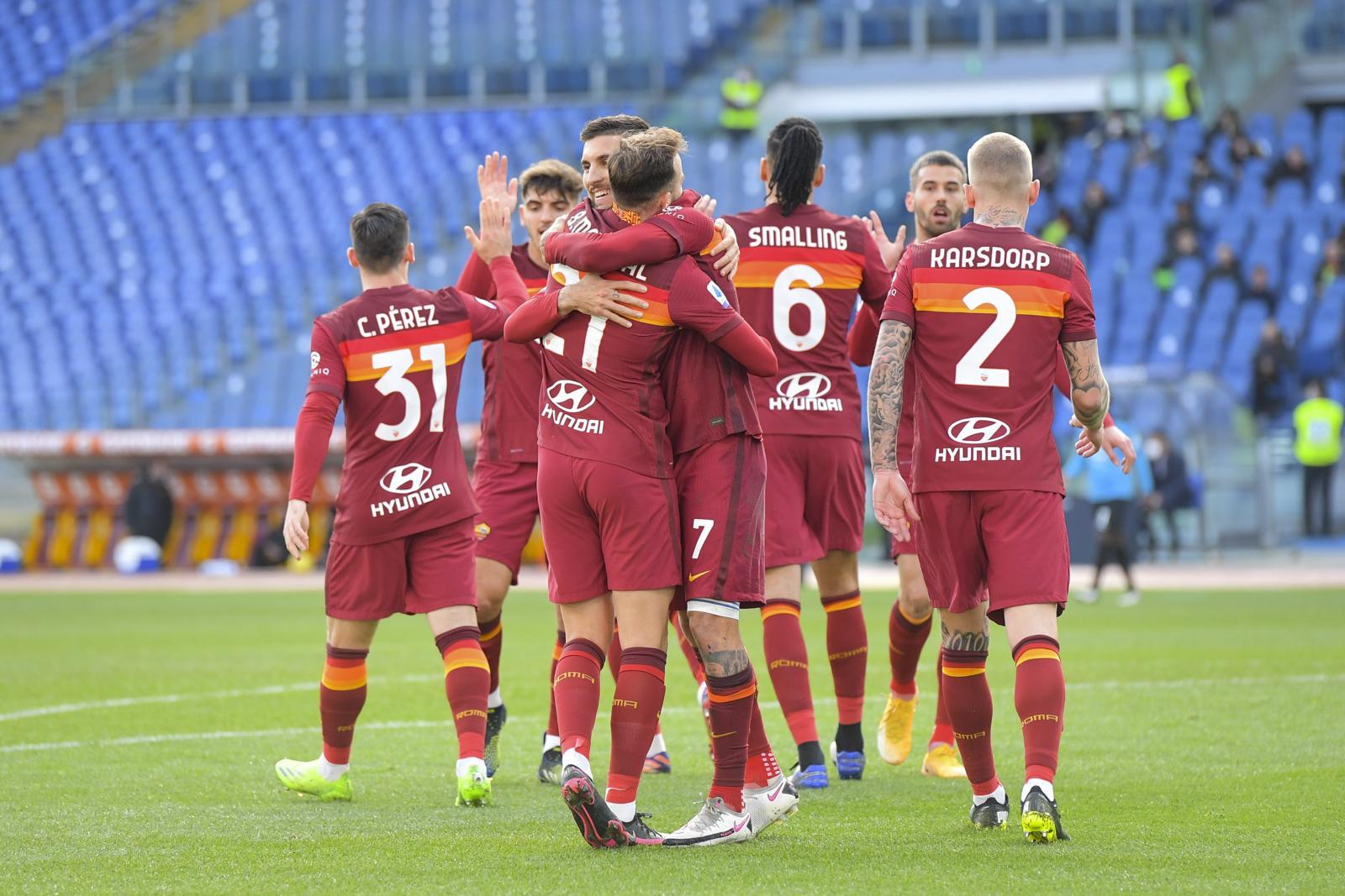 Roma, 4-3 allo Spezia: Pellegrini salva Fonseca