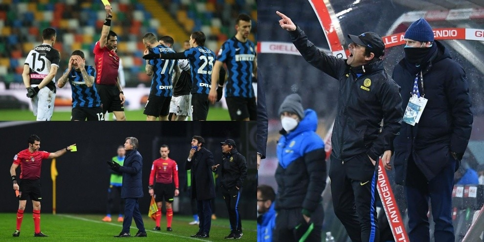Conte e l'Inter nervosi in panchina e in campo