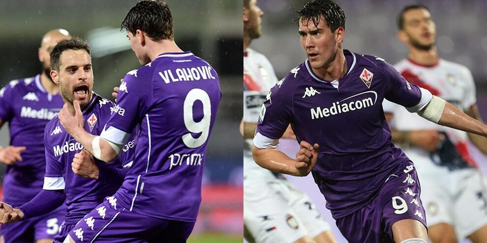 Bonaventura e Vlahovic rilanciano la Fiorentina, steso il Crotone