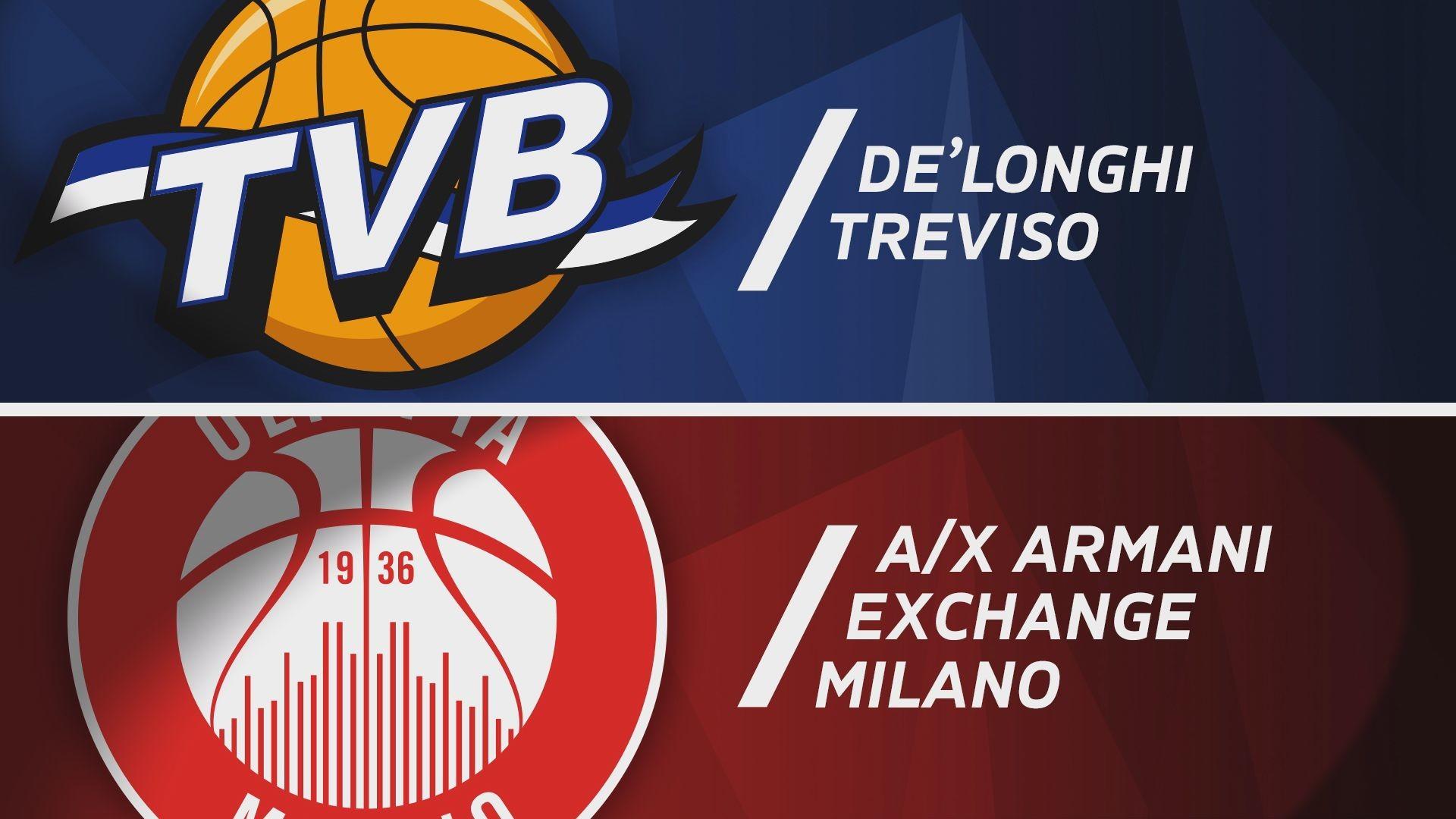 De'Longhi Treviso - A|X Armani Exchange Milano 77-82