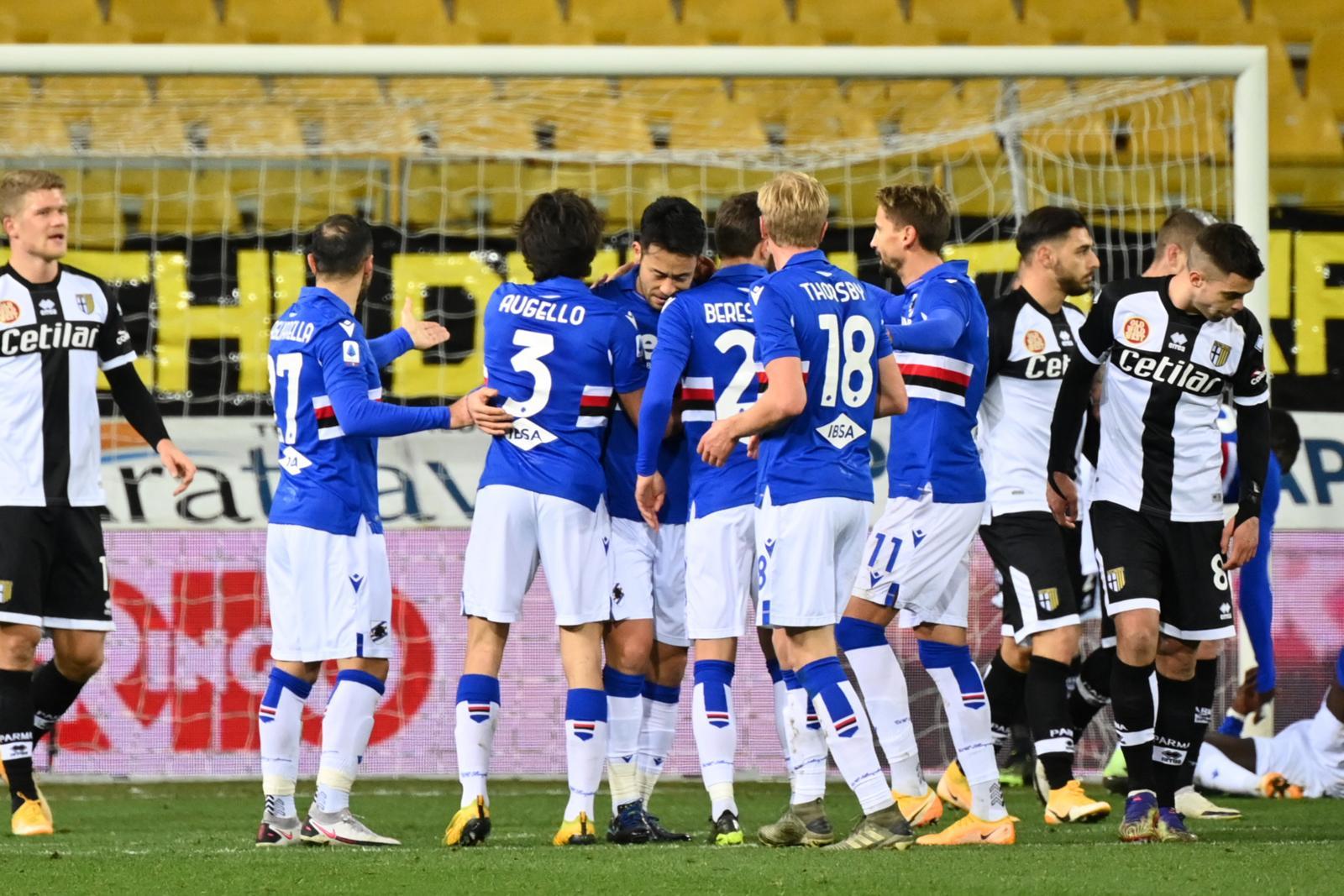 Parma, errori e pali: la Sampdoria vince con Yoshida e Keita