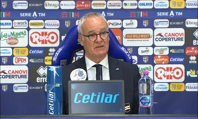 """Ranieri: """"Non mi aspettavo l'arrivo di Torregrossa. Quagliarella encomiabile"""""""