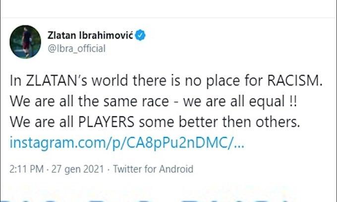 Ibra respinge le accuse di razzismo