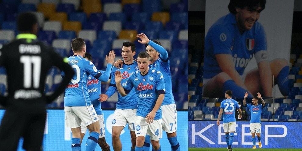 Coppa Italia, al Napoli bastano 45 minuti di show contro lo Spezia