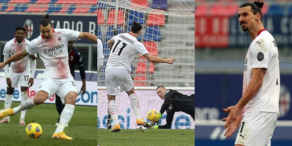 Ibrahimovic, altro errore su rigore: para Skorupski in Bologna-Milan!