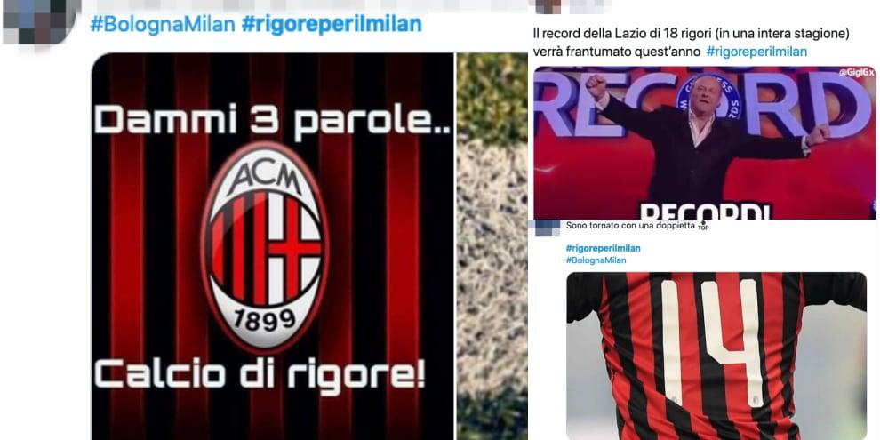 Milan primo nella classifica dei rigori a favore: sui social partono le ironie
