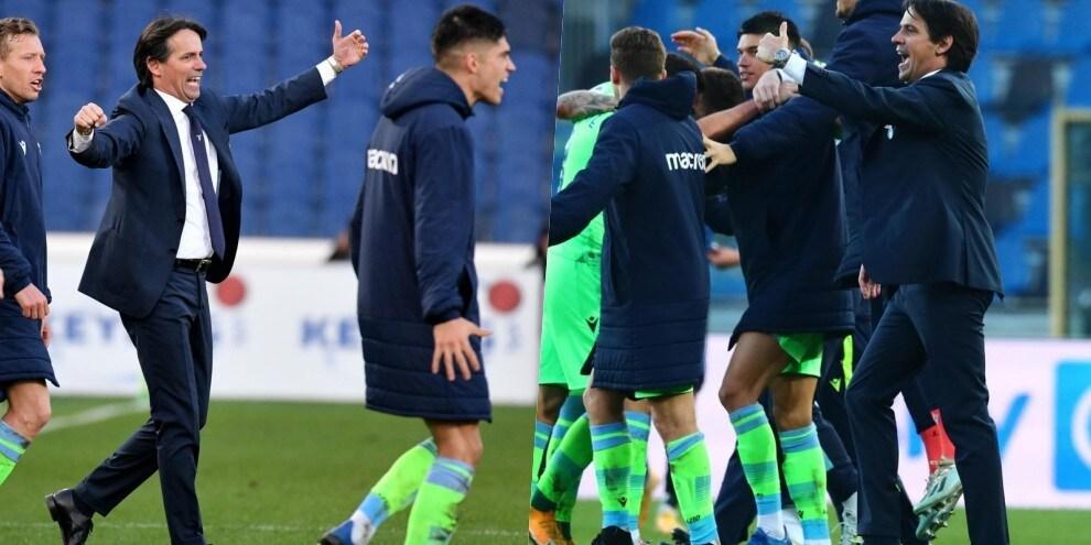 Lazio, festa a fine partita: Inzaghi scatenato!