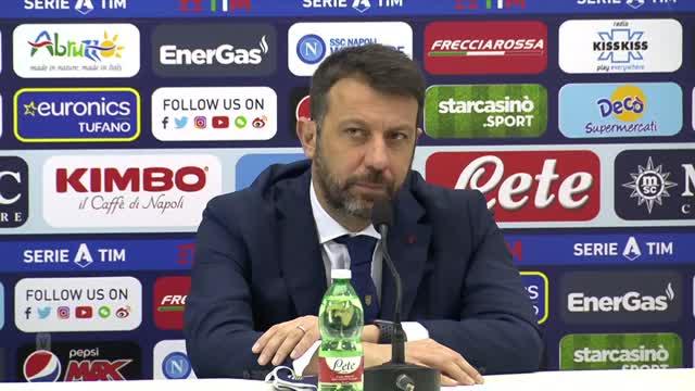 """D'Aversa: """"Non possiamo concedere gol così. La maglia va rispettata fino alla fine"""""""