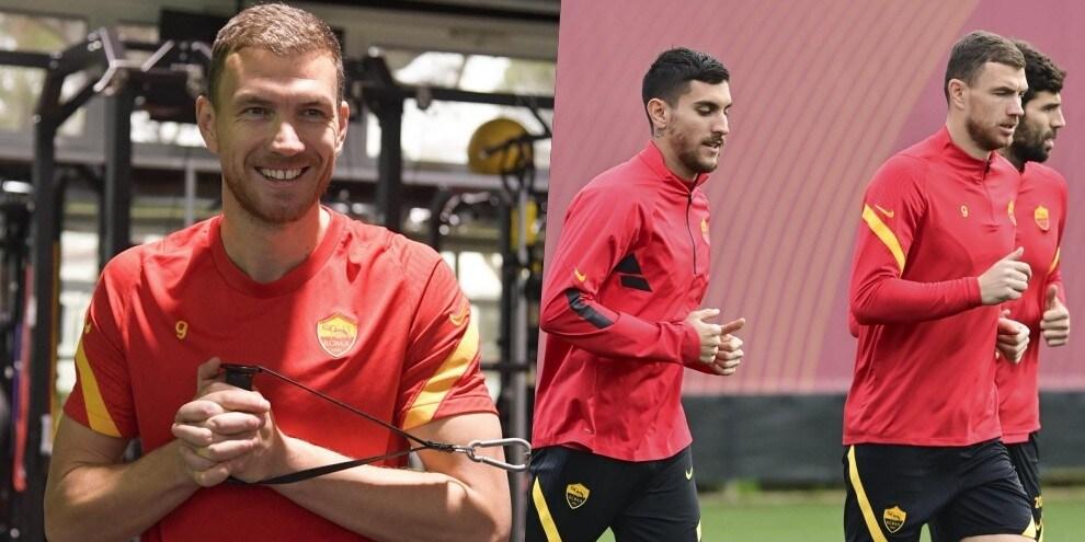 Roma, Dzeko ritrova il sorriso dopo il reintegro in gruppo