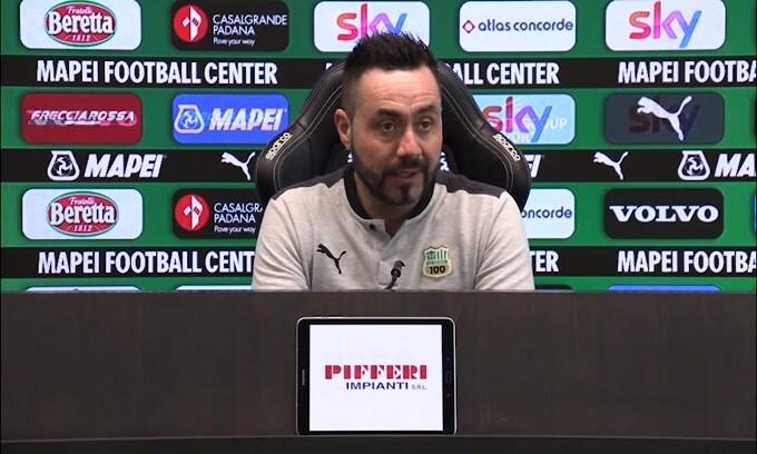 """De Zerbi: """"Se recuperiamo le partite non è un caso"""""""