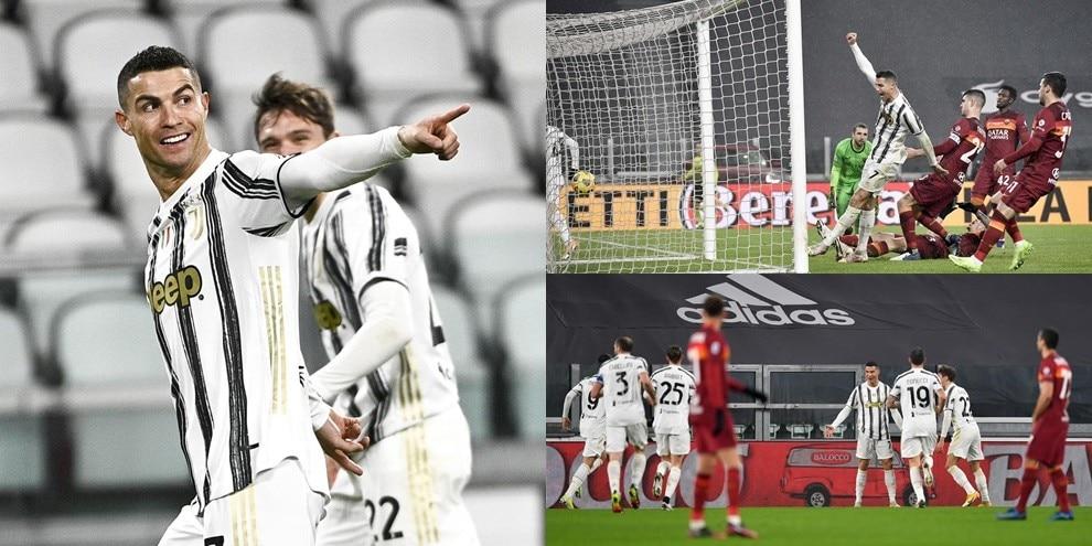 Cristiano Ronaldo e autogol di Ibanez: la Roma cade in casa della Juve