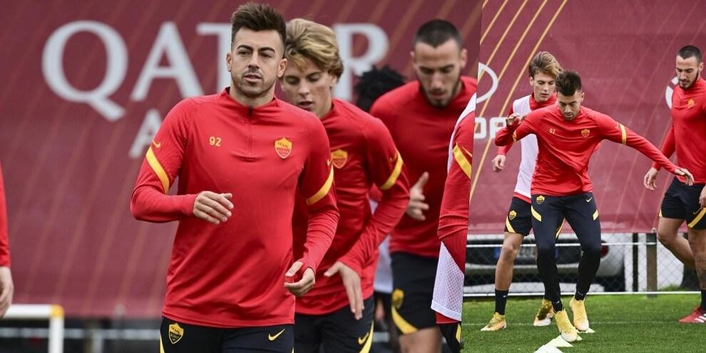 Roma, El Shaarawy mette nel mirino l'Udinese e si allena in gruppo