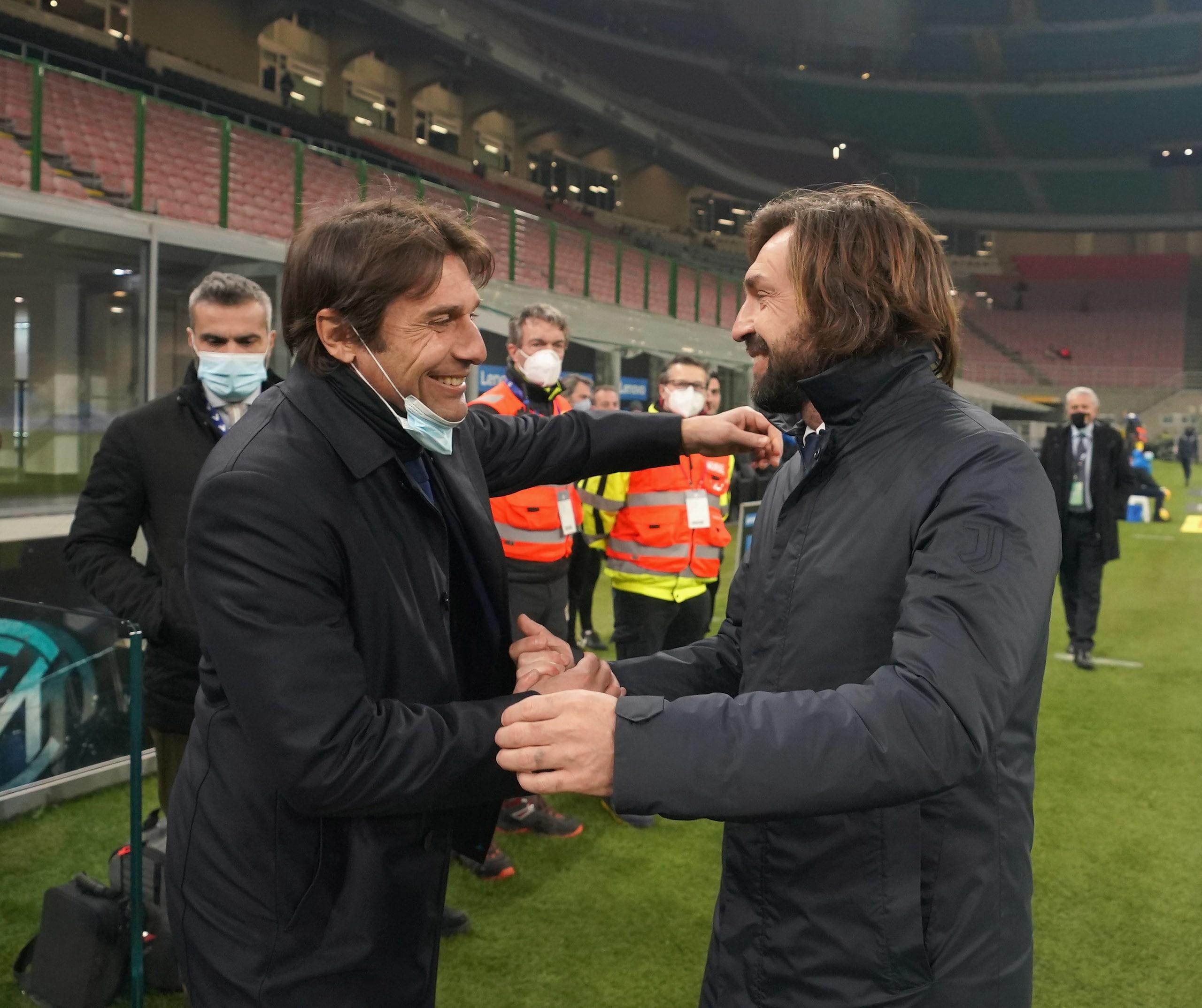 Juve-Inter, le parole di Pirlo e Conte alla vigilia
