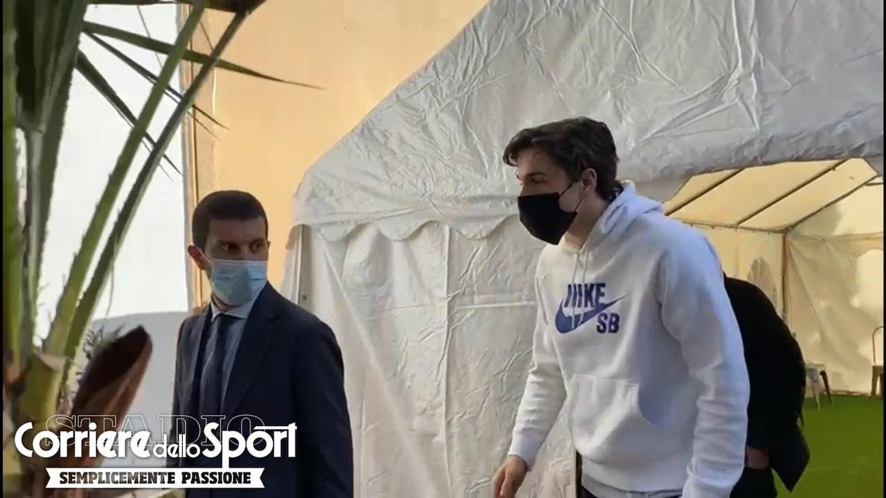 Roma, Zaniolo a Villa Stuart per gli esami d'idoneità sportiva