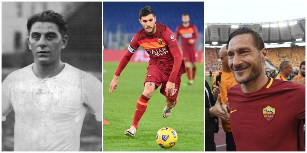 Roma, Pellegrini romano e capitano: da Ferraris a Totti, la storia