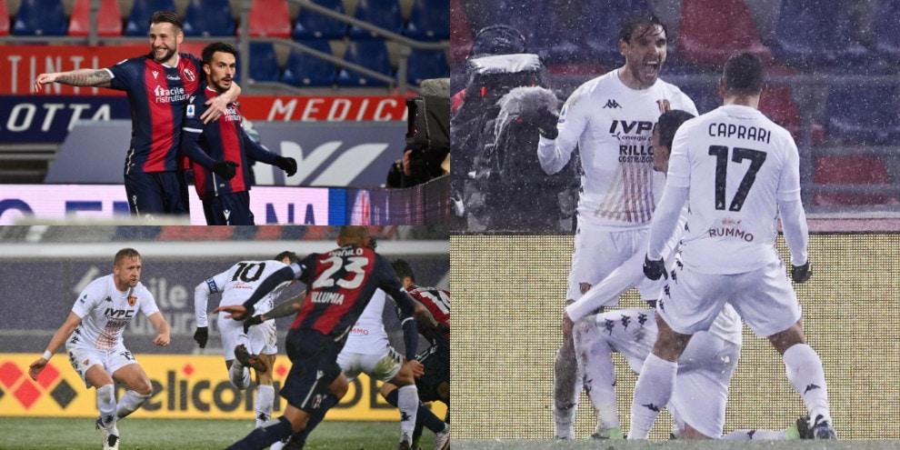 Viola, che gol di tacco! Il Benevento pareggia a Bologna