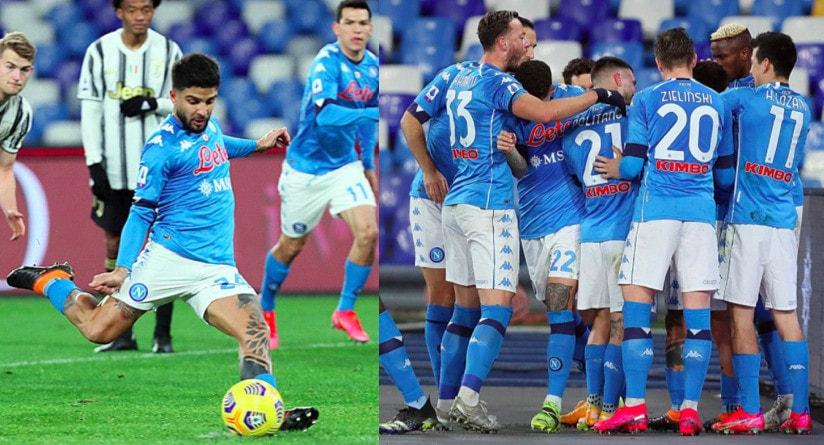 Insigne decisivo su rigore: trionfo Napoli contro la Juve