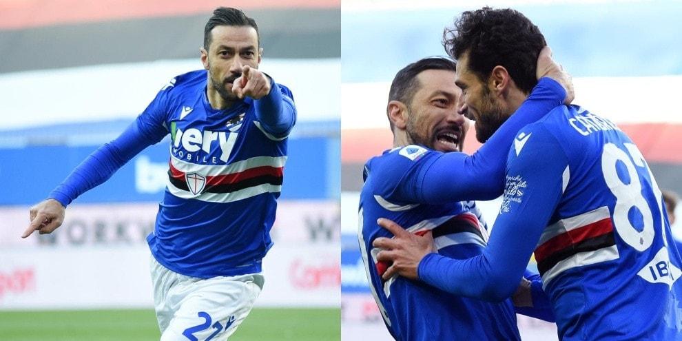 Quagliarella entra e stende la Fiorentina: vola la Sampdoria