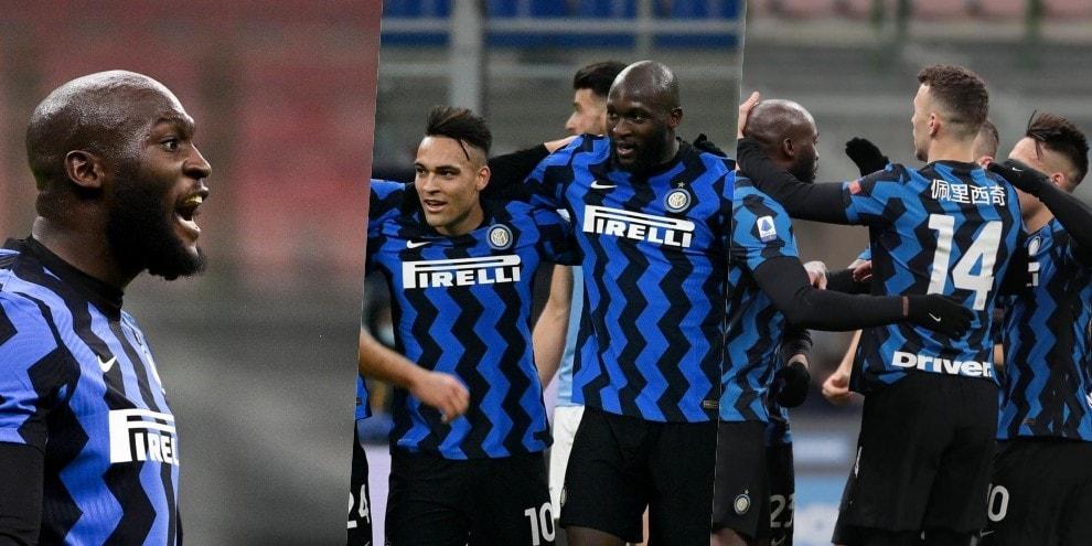 Lukaku-Lautaro coppia gol: l'Inter stende la Lazio 3-1