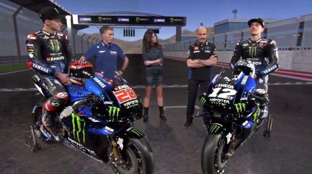 Presentazione Yamaha MotoGP: svelate le M1 2021 di Quartararo e Vinales