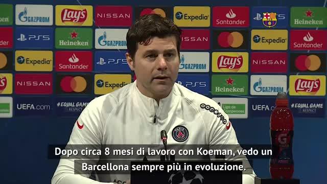 """Pochettino elogia Koeman: """"Il Barcellona migliora sempre"""""""